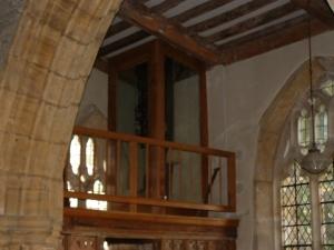 Over the main door clock