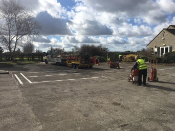 Re-lining the Village Hall Car Park
